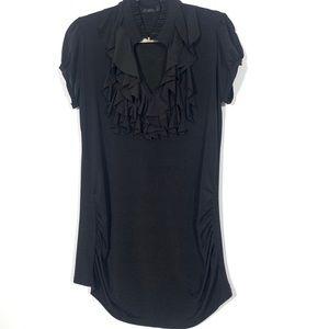 Black Ruffles T-Shirt Large